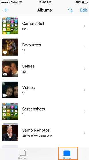 Organize Photos on iPhone with Photos App