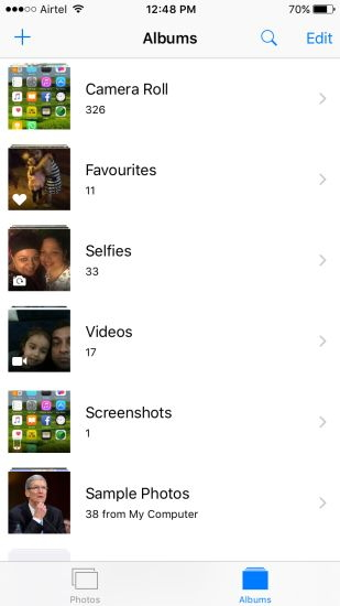 Manage Photos on iPhone with Built-in Apps