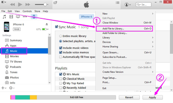 Transfer Music from iPod to iPad with Manual Way - step 6