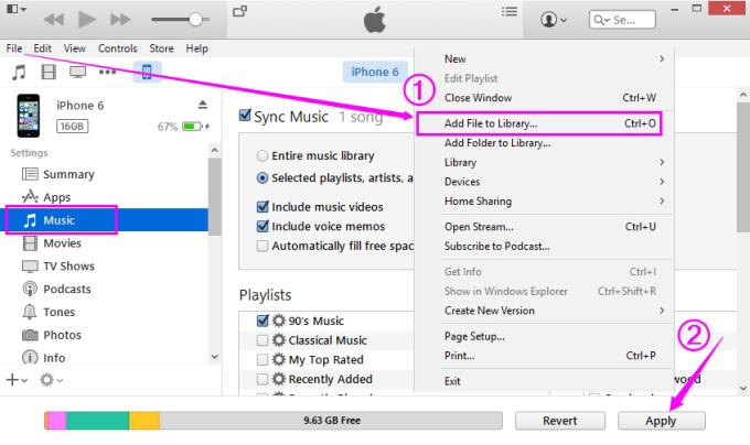 Transferência de música do iPod para o iPad com modo manual - etapa 6