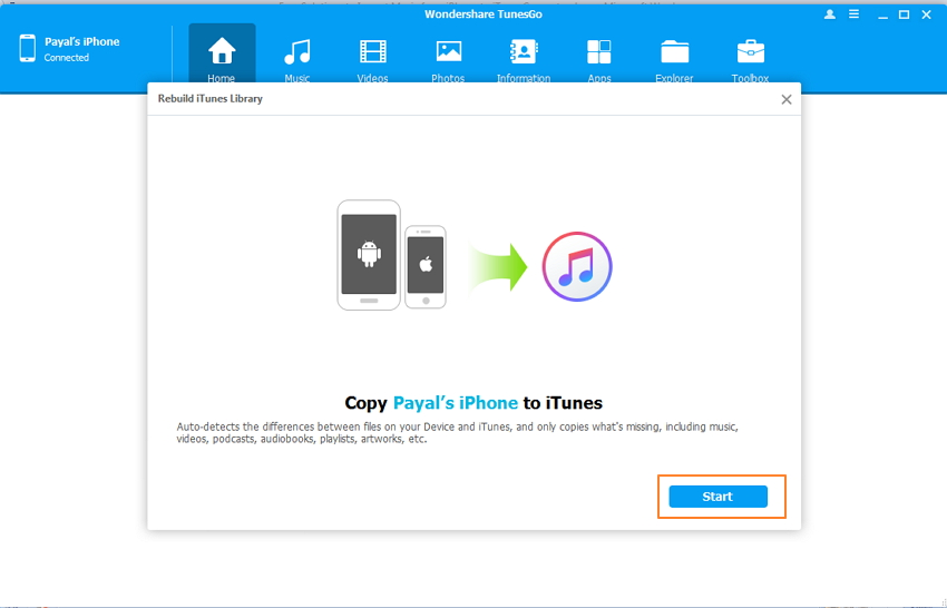 Import All Music and Playlists to iTunes