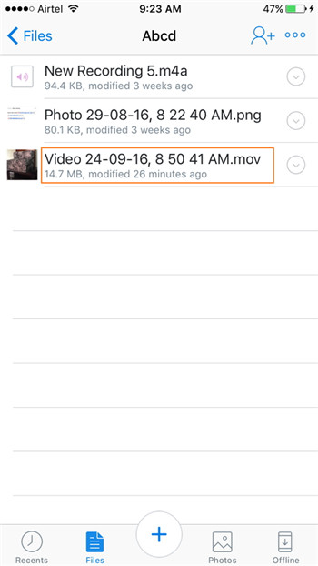 Transfer Videos from iPhone to iTunes Using Dropbox