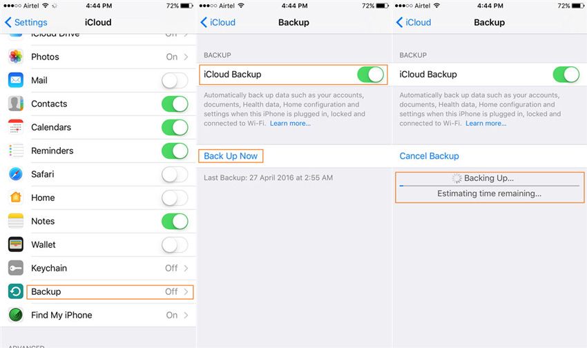 Backup iPhone Data to Mac with iCloud
