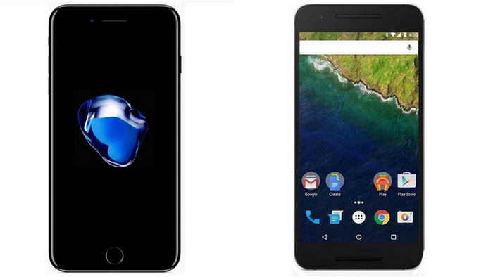 iPhone 7 vs. Nexus 6P