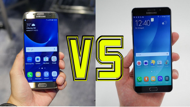 Samsung Galaxy Note 7 vs Samsung Galaxy S7