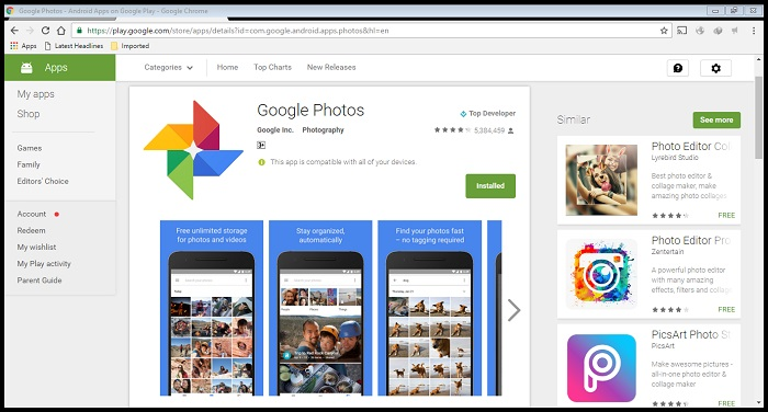 android photo viewer