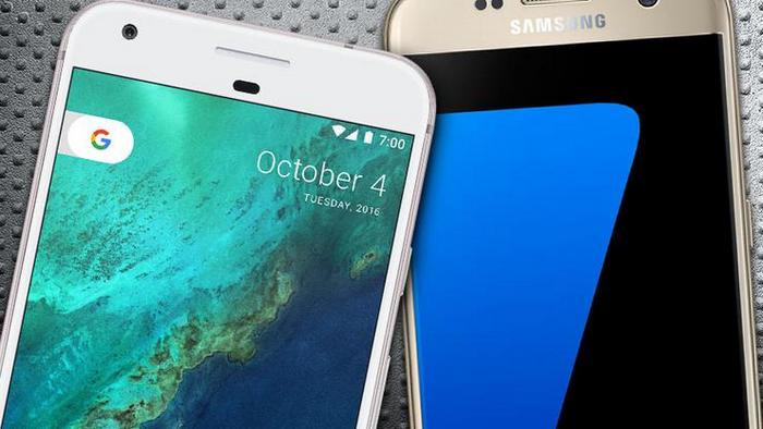 Google Pixel Vs Samsung S7 Edge