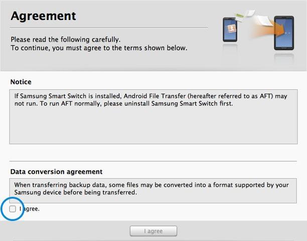 Smart Switch pour transférer des contacts de l'iPhone vers le Galaxy S7/S6/S5