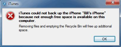 How to restore iPhone/ipad without iTunes-less space