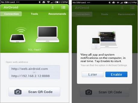Transfert de fichiers android sans fil avec AirDrop