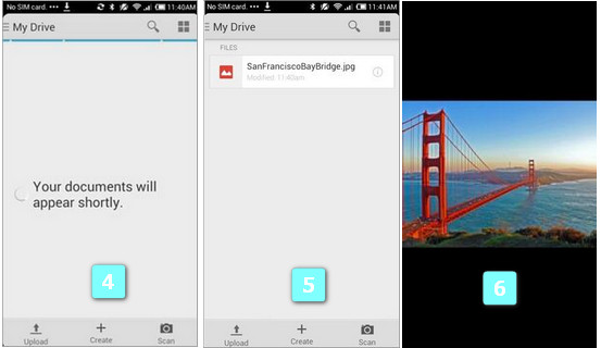 Transfert de fichiers android via wifi vers pc