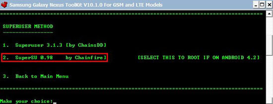 rooteo Galaxy Nexus i9250 4.2.1
