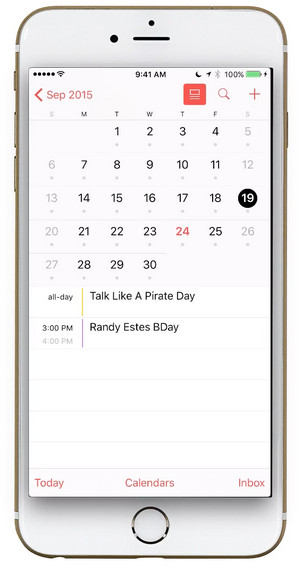 how to backup iphone calendars