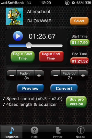 free ringtone for iOS app with custom ringtone maker max