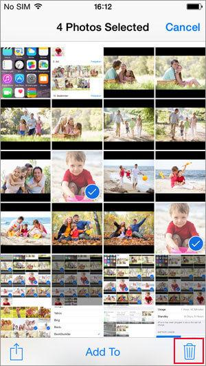 how to delete photos from iphone easily