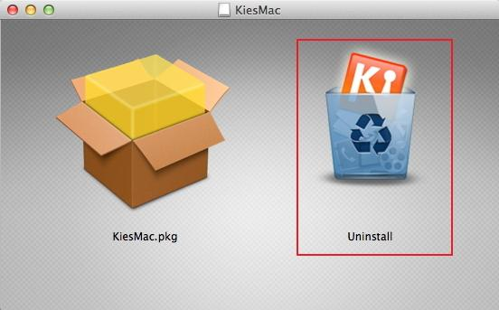 uninstall samsung kies mac