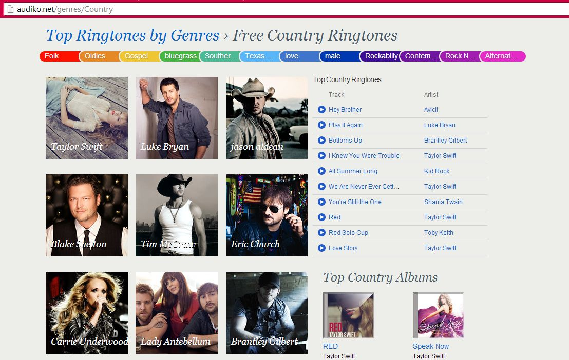 Country ringtones free-Audiko-country