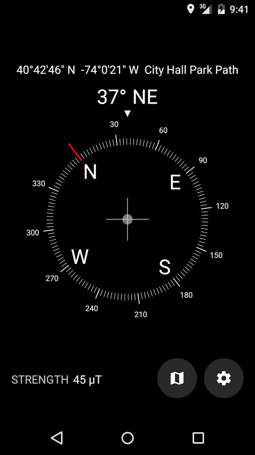 free compass app for Android-Digital compass