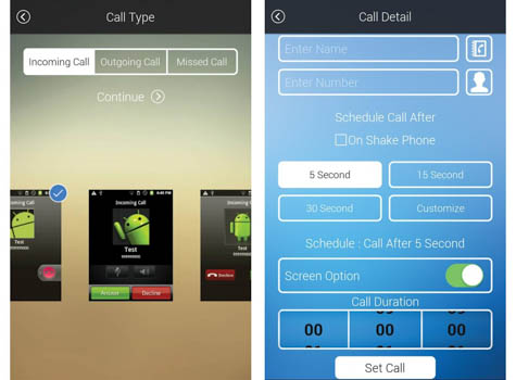 Free fake call id app for android-fake call sms