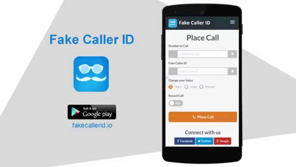 Free fake caller ID app for Android
