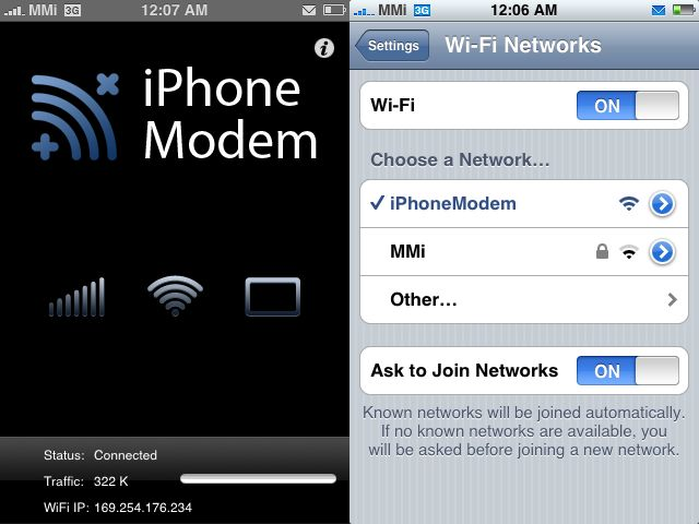Free Hotspot Apps for iOS - iPhone Modem