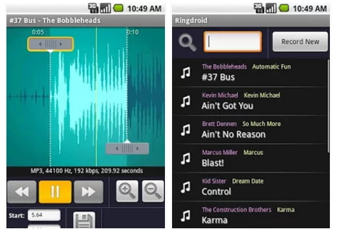 Make Free Samsung Ringtones-ringdroid
