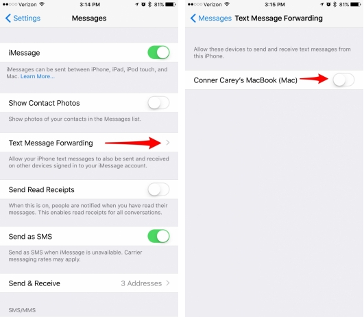 how to sync iphone and ipad text messages how to sync messages from iphone to mac 4666