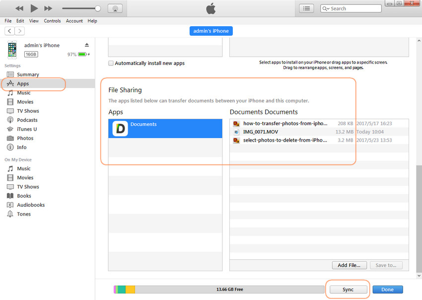 How to transfer videos from PC to iPhone camera roll with iTunes