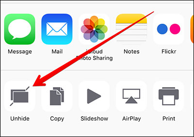 How to Manually Unhide Photos on iPhone