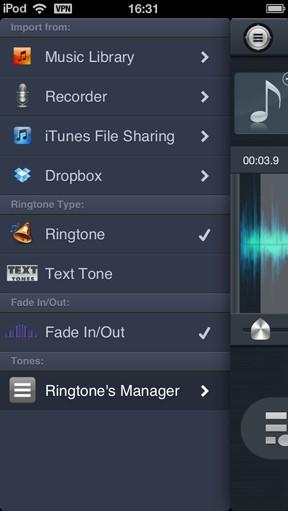 Free iPhone Ringtone Maker App saving ringtone