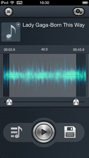 iphone ringtone maker-select music from Free iPhone Ringtone Maker App