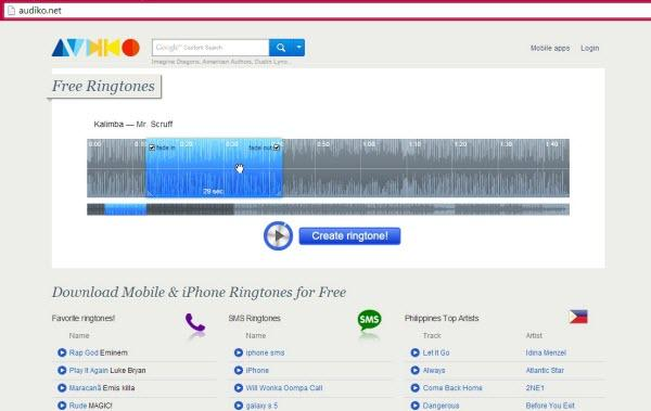 How to Make Your Own Ringtone with online website-3
