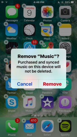 Remove iPhone Apps on iPhone