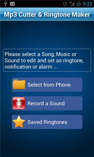 Ringtone Apps for Android-MP3 Cutter and Ringtone Maker