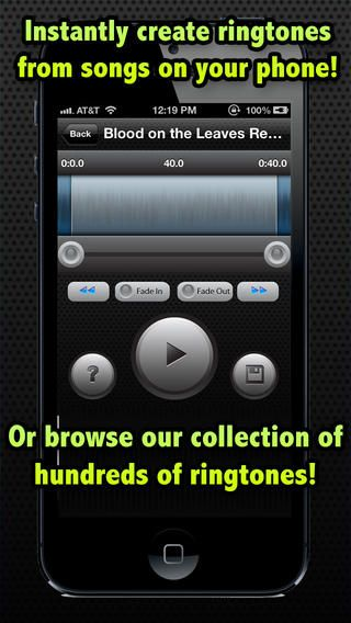 free ringtone for iOS app with Ringtones by Limit Point