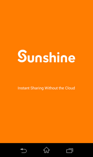 Sunshine to send large size file from iphone