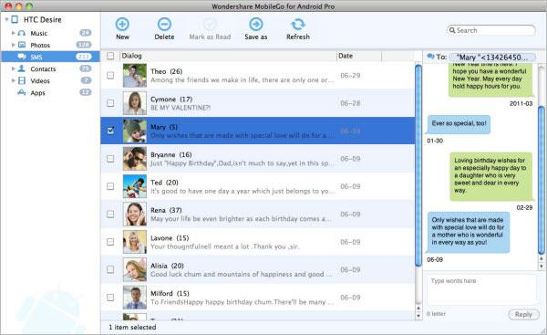 text messages on mac with mobilego