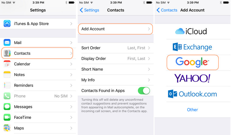 import google contacts to iphone how to sync contacts to gmail sync iphone android 17323