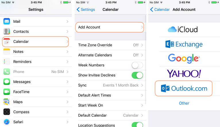 sync outlook email with iphone how to sync outlook calendar with iphone 18060