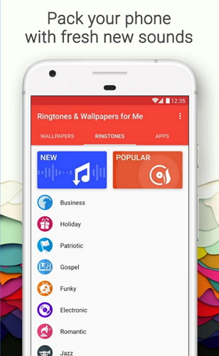 Best apps for Android-Ringtones & Wallpapers for me