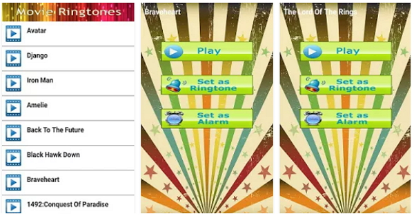 Best Ringtone apps for Android-Movie Ringtones
