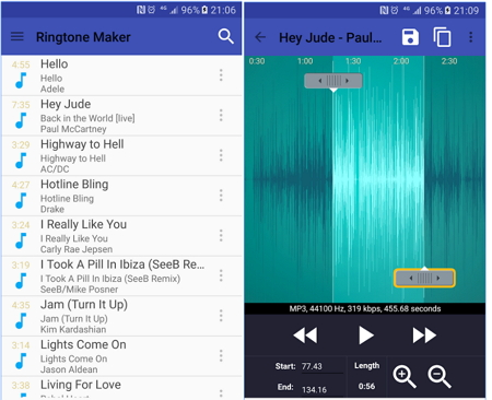 free ringtones apps for android with Ringtone Maker For Android