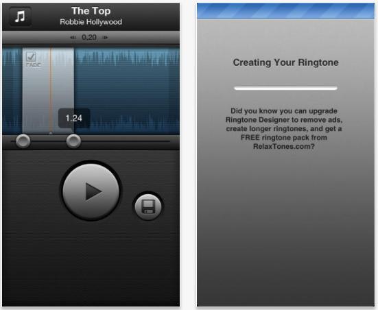 Top iPhone ringtone apps for free-Ringtone Designer
