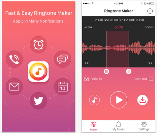 top free music ringtone apps for iPhone-Ringtone Maker Free