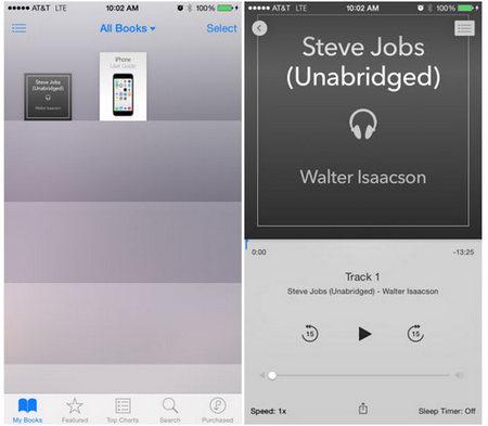 transfer iphone audiobooks on mac