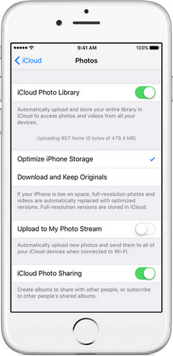 how to upload camera roll to icloud