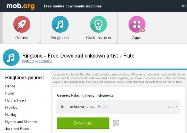 top Websites and Apps to Download Flute Ringtones Mob.org