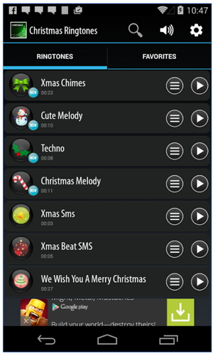 Ringtone Apps for Android-Best Christmas Ringtone