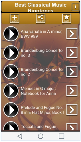 Ringtone Apps for Android-Classical music Ringtones