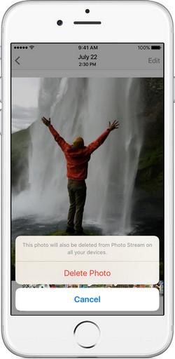 how to delete iphone photos